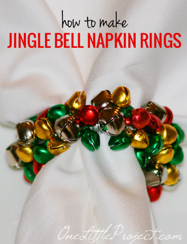 How to make Jingle Bell napkin rings.  These are so cute for Christmas and just like the ones at Pier 1!