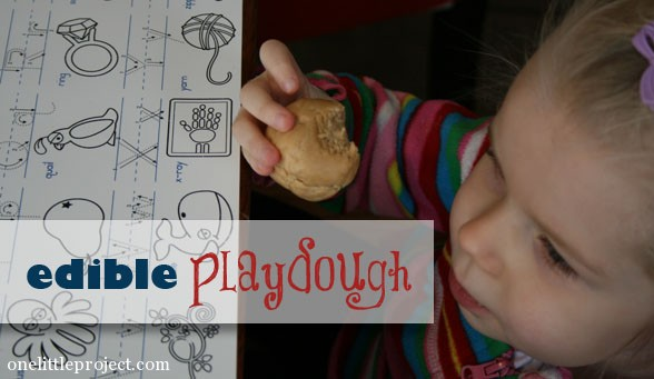How to make edible play dough with peanut butter.  I remember doing this when I was a kid!