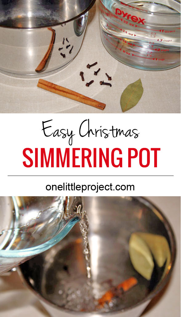 Make that Christmas baking smell with this easy simmering pot recipe.  It will keep your home smelling AMAZING for hours.