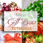 Twelve gift bow tutorials