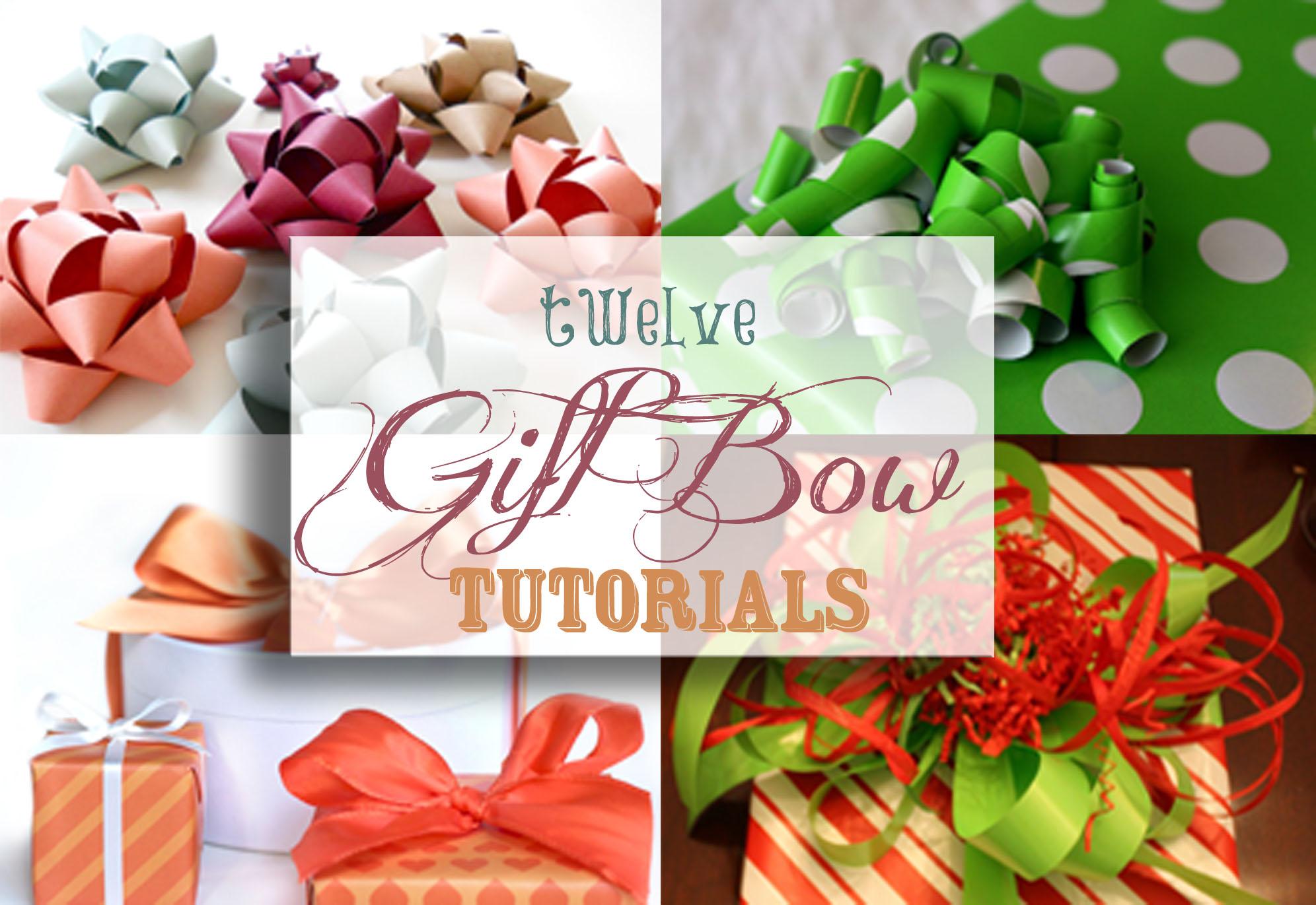 Twelve gift bow tutorials negle Gallery