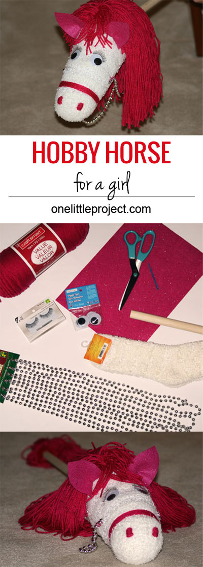 DIY Hobby Horse for a Girl - This would make such a cute gift idea!