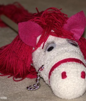 Pretty hobby horse for a girl