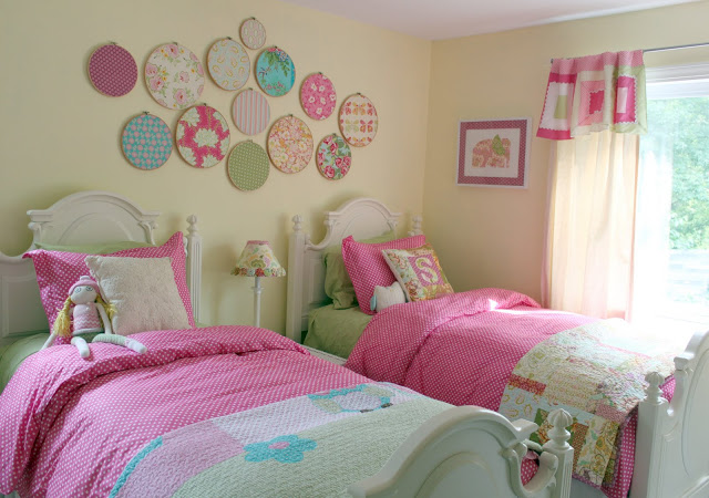 5. From The Cottage Home. Love The Bedding In This One. The Only Thing  Prettier Than One Big Girl Bed, Is TWO Big Girl Beds!
