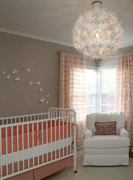Light gray nursery ideas - Cortinas vintage dormitorio ...