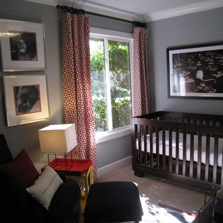 43 From Houzz - Gray and Red Nursery