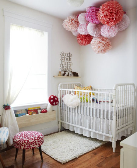54 From Inspirations Eva - Gray, red and pink nursery