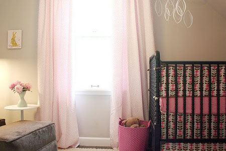 74 From Design Dazzle Gray And Pink Nursery