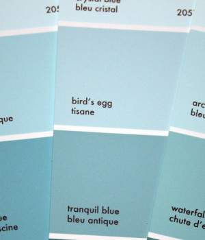 Paint colour: Bird's Egg by Benjamin Moore
