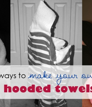 3 Ways to make your own hooded towels – Part 3