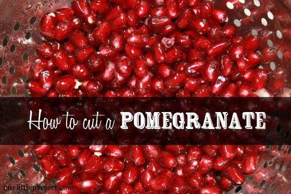 how to effectively cut a pomegranate
