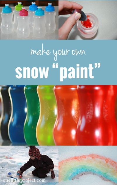make your own snow paint. Black Bedroom Furniture Sets. Home Design Ideas