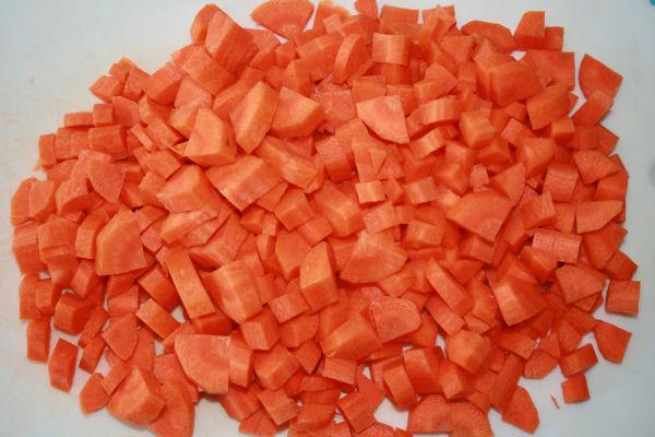 5 chopped carrots