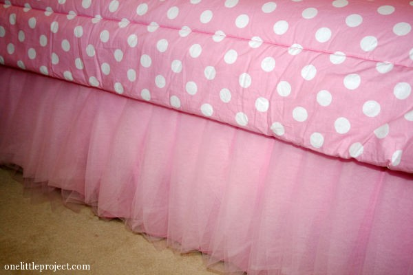 tulle bedskirt tutorial