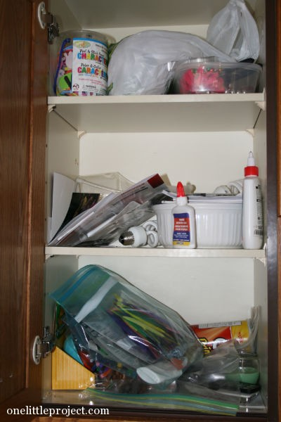 what my craft cupboard really looks like