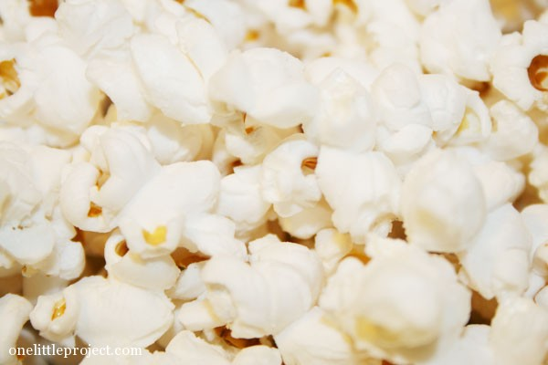 closeup of popcorn