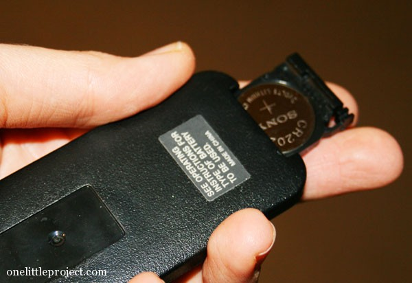 button battery in remote