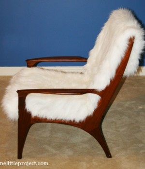 easy alternative to reupholstering an old chair