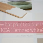 What paint colour is IKEA Hemnes white?