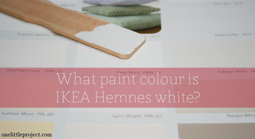 What paint colour is ikea hemnes white for Paint color match