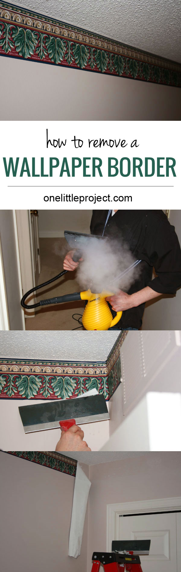 best way to take off wallpaper with a steamer