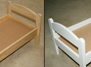 painting an IKEA duktig doll's bed