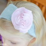 Fabric Flower Headband Tutorial #2