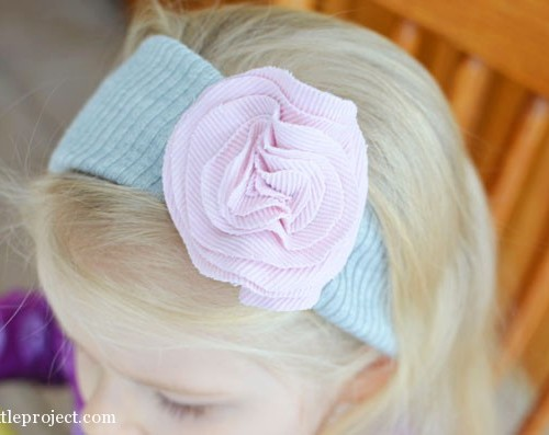 fabric flower headband for a toddler