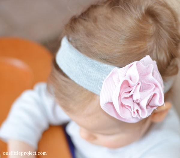 Fabric Flower Headband Tutorial 1