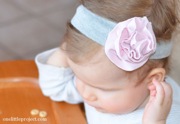 fabric flower headband for baby