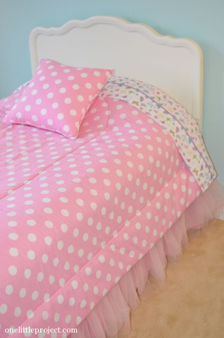 how to make a tulle bedskirt for a twin bed