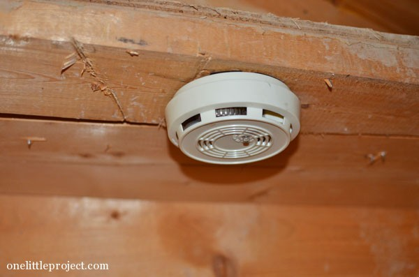 smoke detector in basement