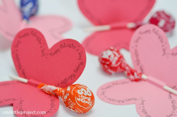 4 Easy Valentine's Day Candy Wrapping Ideas | onelittleproject.com
