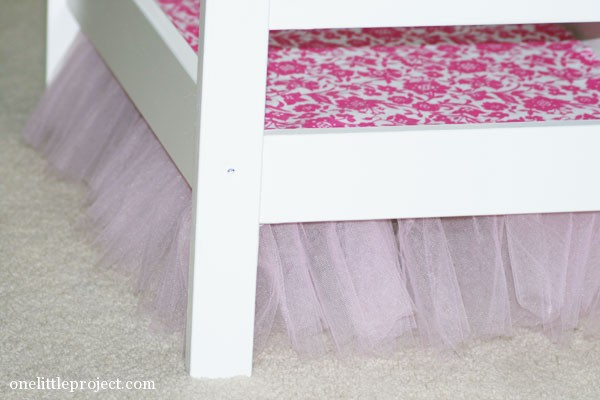 tulle bedskirt for ikea duktig doll's bed