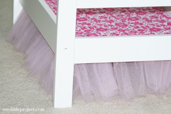 tulle bedskirt for ikea duktig doll's bed