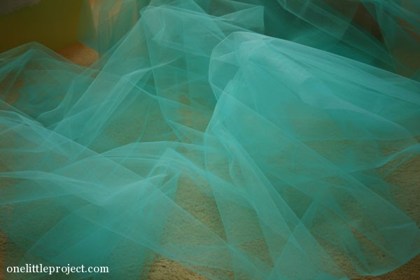 blue tulle for bedskirt