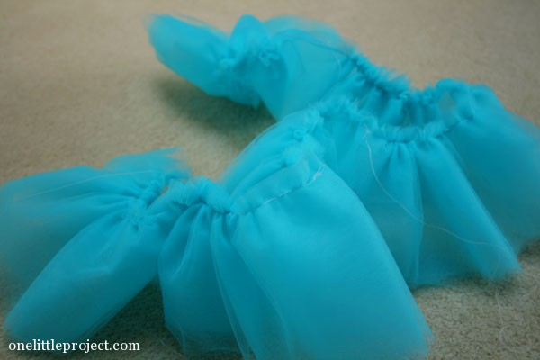 blue tulle for doll's bed tutu bedskirt
