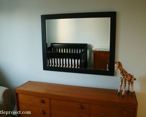 easy way to hang a mirror
