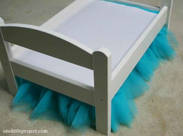 IKEA Duktig Doll's Bed tulle bedskirt