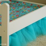 How to make a tulle bedskirt for an IKEA doll's bed