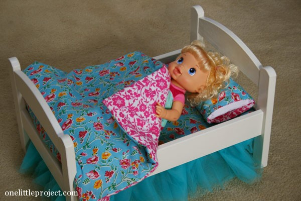 How To Make A Reversible Blanket For An Ikea Doll Bed