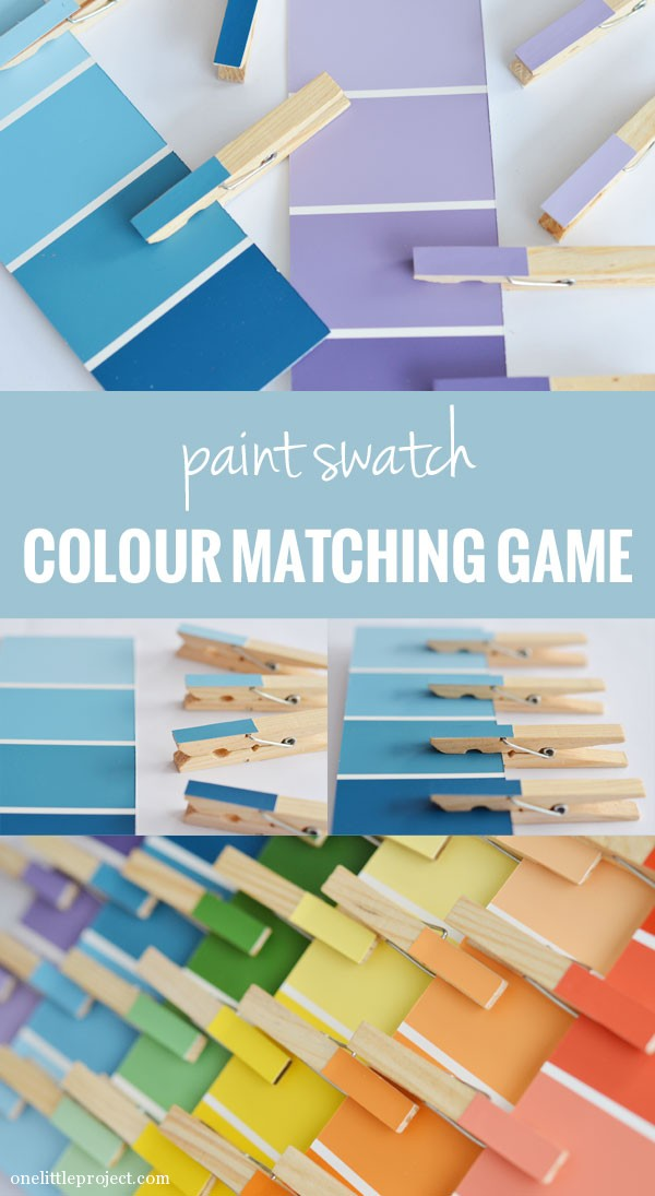 Paint swatch colour matching game | onelittleproject.com