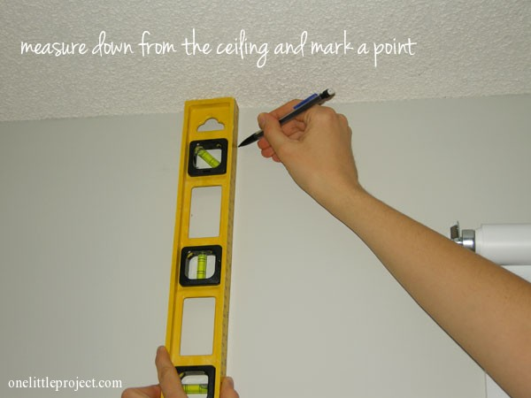Marking Points For Curtain Rod How Far From The Window