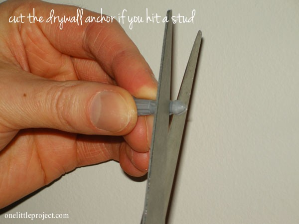 Cut Drywall Anchor If You Hit A Stud