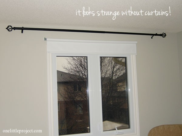 how to install a curtain rod - with pictures