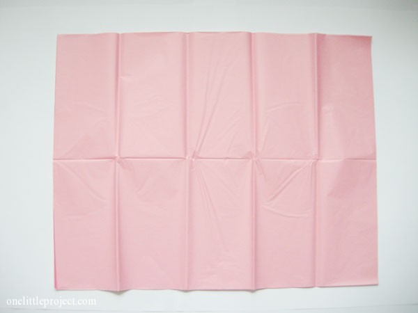 sheet of pink tissue paper