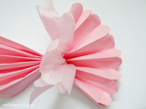 How to make tissue paper pom poms an easy step by step tutorial how to make tissue paper balls onelittleproject mightylinksfo