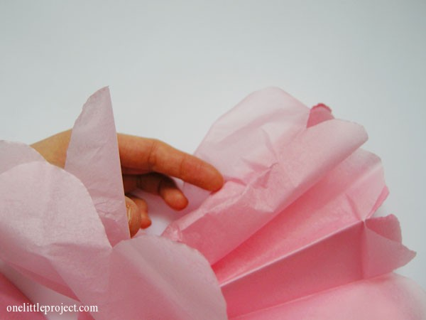 how to make tissue paper poofs | onelittleproject.com