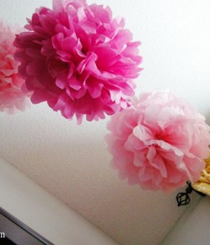 tissue paper pom poms for a nursery?