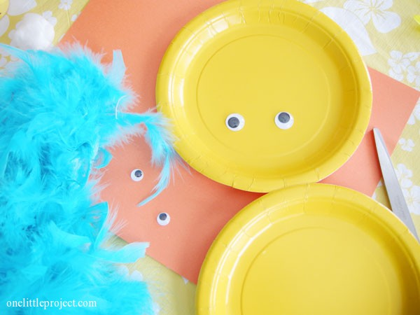 easter craft ideas - yellow paper plates